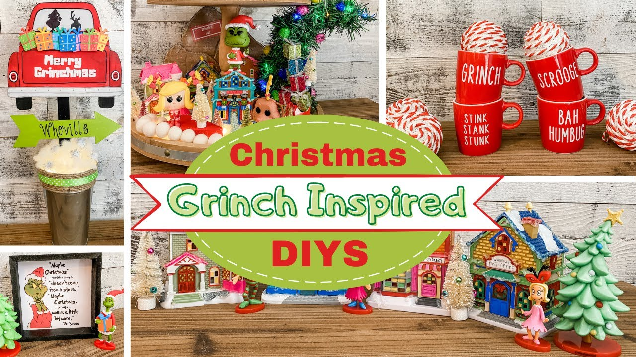 🎄 Grinch DOLLAR TREE Christmas DIYS 🎄 The Easiest DIYS!