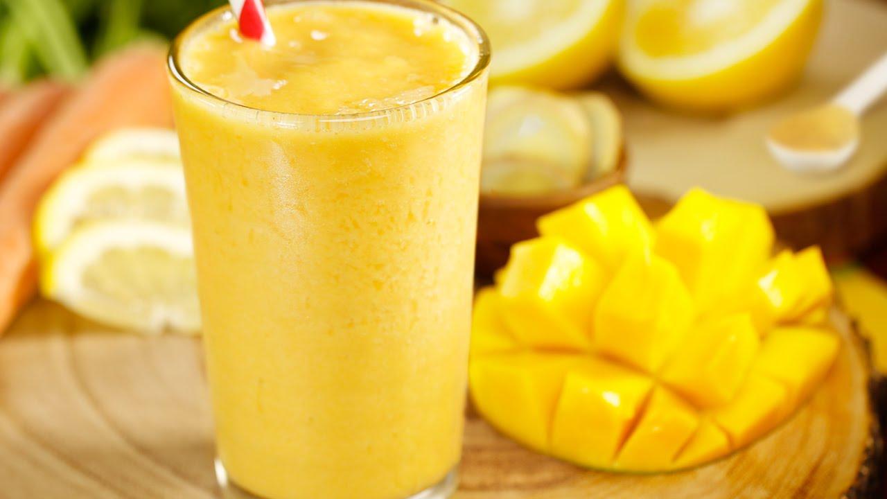 Receta de smoothie de mango Mango smoothie recipe YouTube