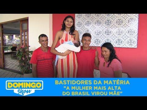 BASTIDORES: A MULHER MAIS ALTA DO BRASIL VIROU MAMÃE | DOMINGO SHOW