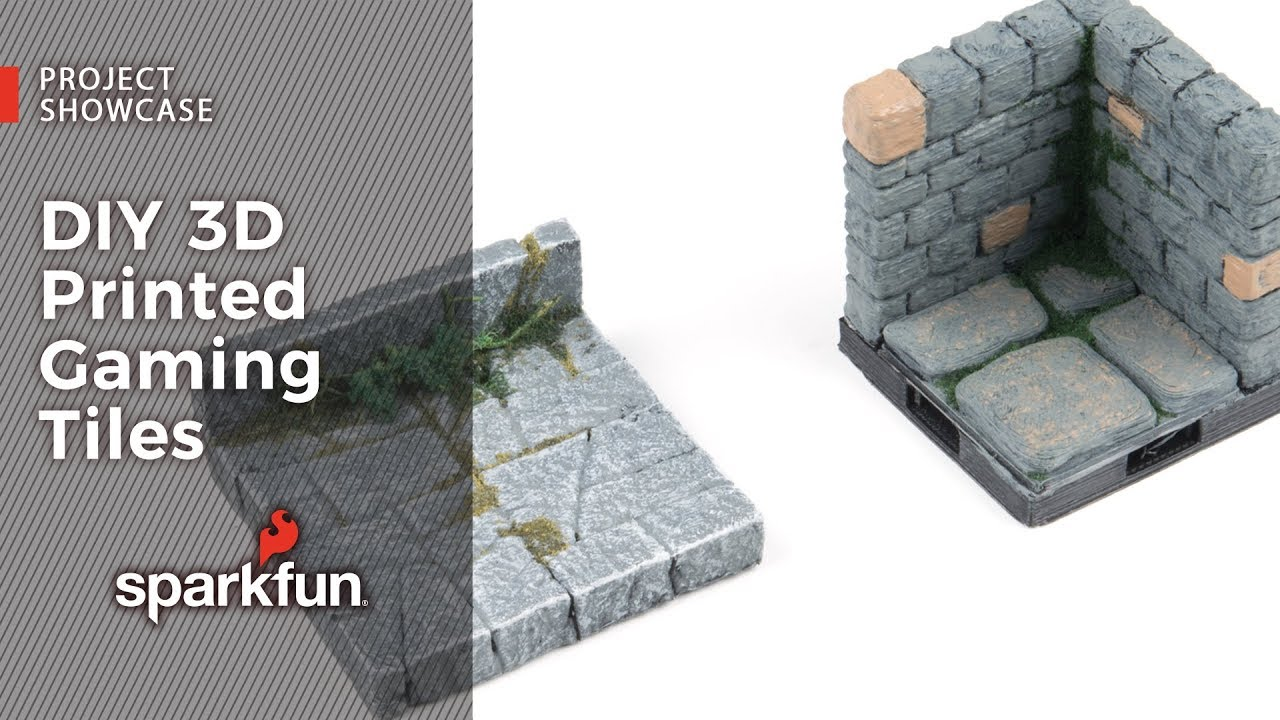 photograph about 3d Printable Dungeon Tiles named Job Showcase: Do it yourself 3D Released Gaming Tiles