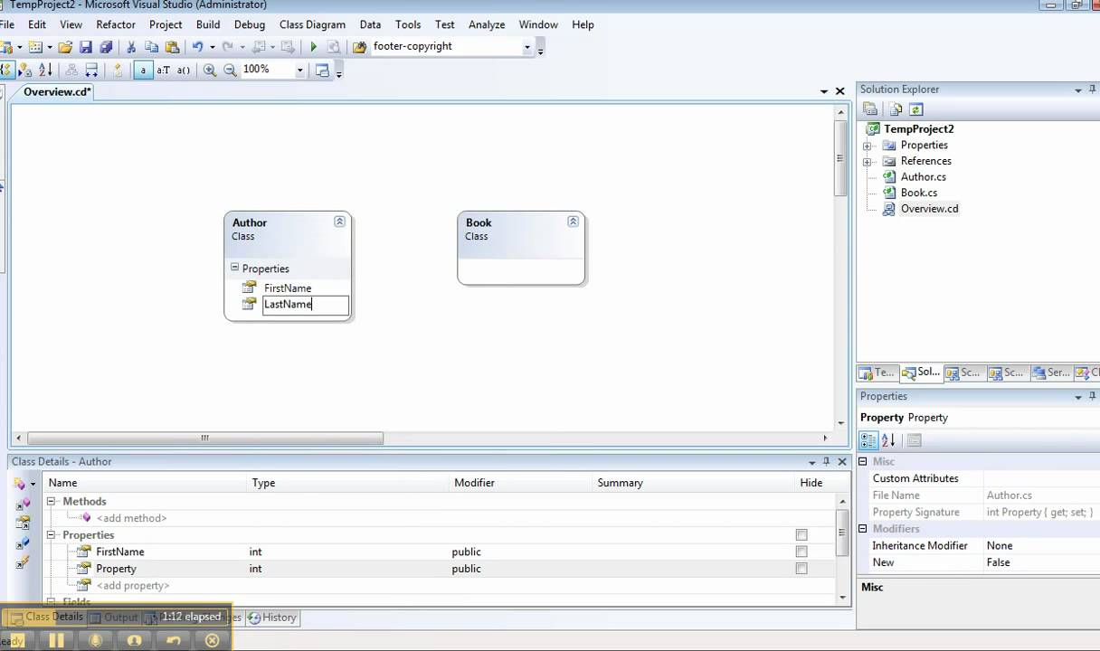 Vs class diagram part 1 youtube vs class diagram part 1 ccuart Choice Image