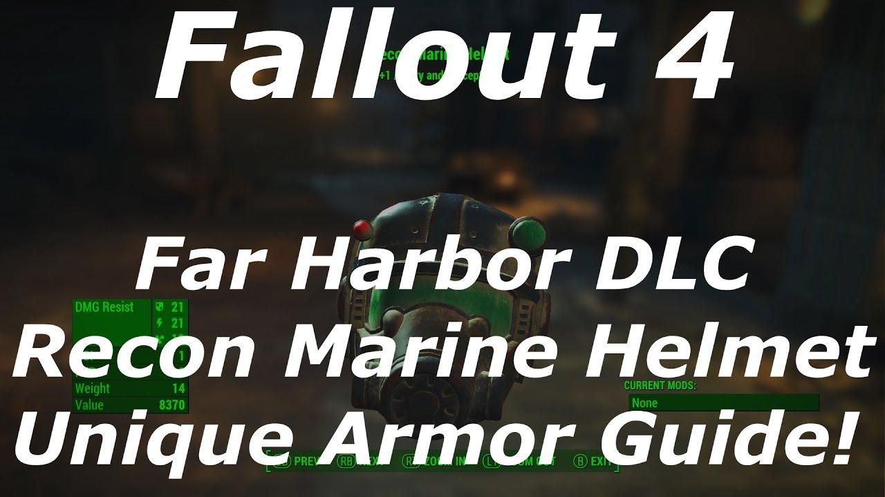 fallout 4 far harbor dlc recon marine helmet unique. Black Bedroom Furniture Sets. Home Design Ideas