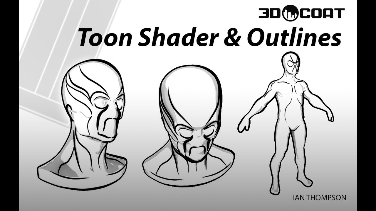 You Can Use 3D-Coat Toon Shader for a Cel-Shaded Line Art