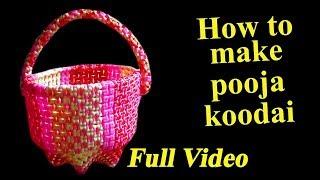 How to make pooja koodai - Full Video