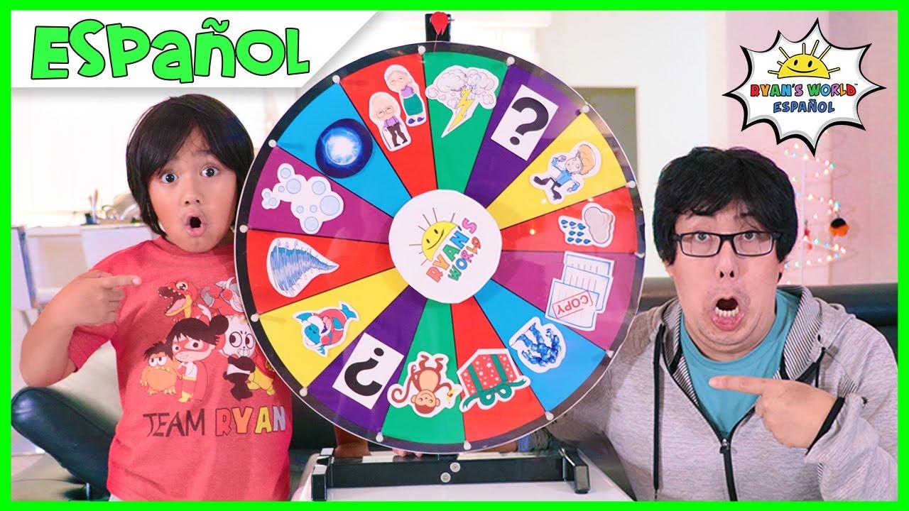Ryan juega a Magic Spin Wheel Kids Pretend Play fun