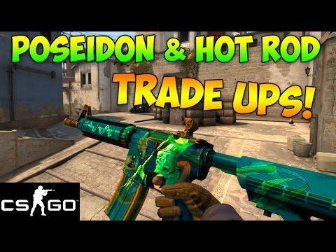 CS GO Trade Ups: M4A4 Poseidon & M4A1-S Hot Rod Trade Up Attempts! (CS:GO Skins)