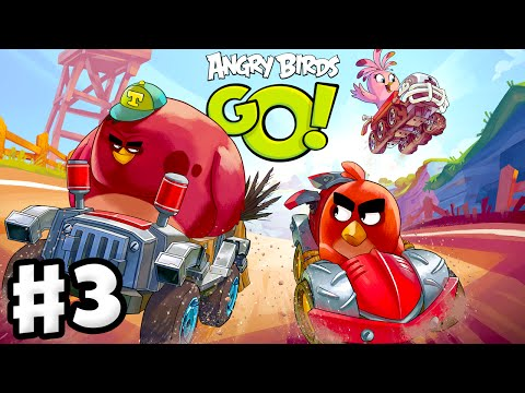 Angry Birds Go! 2.0! Gameplay Walkthrough Part 3 - Moustache Pig Race and 3 Stars! (iOS, Android)