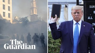 Protesters brutally dispersed ahead of Trump's photo opportunity with a Bible