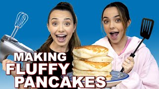MAKING FLUFFY PANCAKES - Merrell Twins Live