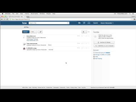 Box.com Tutorial 2015 - Quick Start