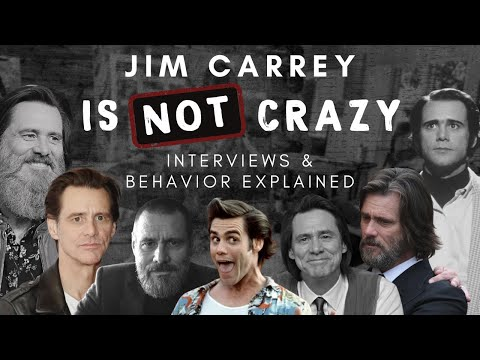Jim Carrey is NOT CRAZY - Interviews & Behavior Explained