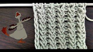 Вязание спицами. Узор Гусиные лапки