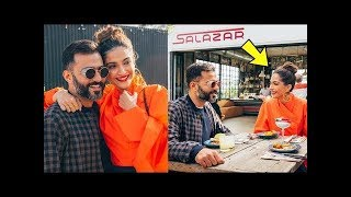PREGNANT Sonam Kapoor full of Pregancy glow with hubby Anand Ahuja ❤