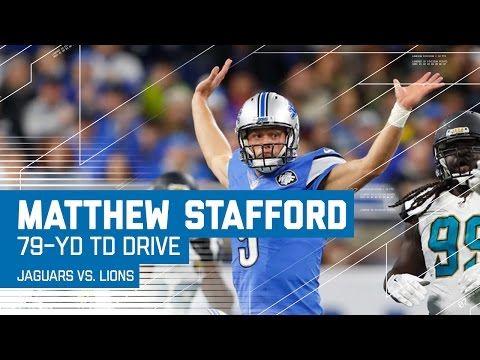 Matthew Stafford Drives Lions 79 Yards to Take the Lead! | Jaguars vs. Lions | NFL