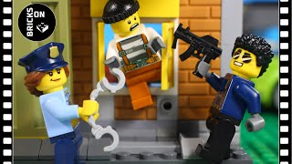 Lego Crazy Bank Heist FULL Story Robbery ATM Stop motion Animation Catch the crooks