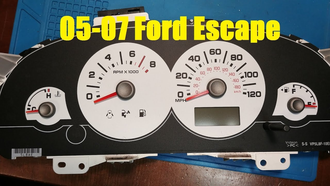Repairing a Ford Escape Instrument Cluster