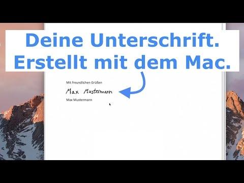 Mac Signatur Unterschrift In Dokumente Einfügen So Einfach