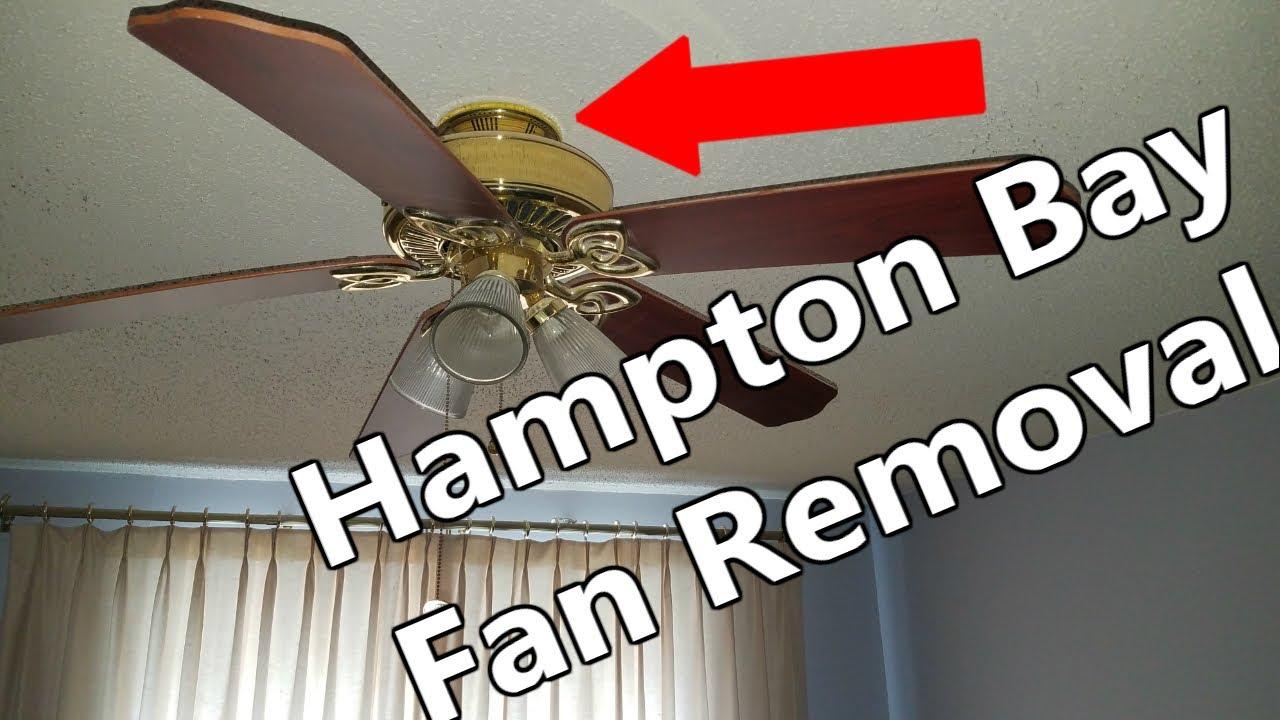 how to remove hampton bay ceiling fan no screws [ 1280 x 720 Pixel ]