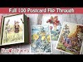 Flower Fairies Postcard Set Full 100 Card Flip Through