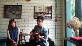 Trăng dưới chân mình [guitar cover] - Thúy Ngân & Hopo