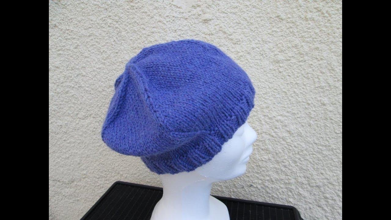 8d46402e397 Tuto béret pour fille facile et rapide tricoté - YouTube