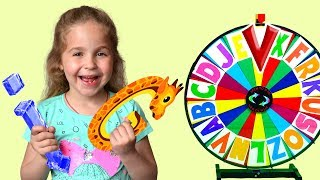 Alphabet magic spin with animation words #7 - Letters G, I, Q, V
