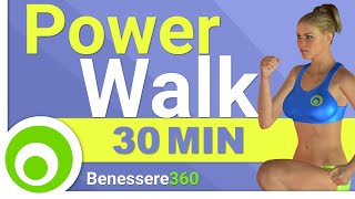 Power Walk Workout per Bruciare Grasso a Casa - 30 Minuti Camminata per Dimagrire