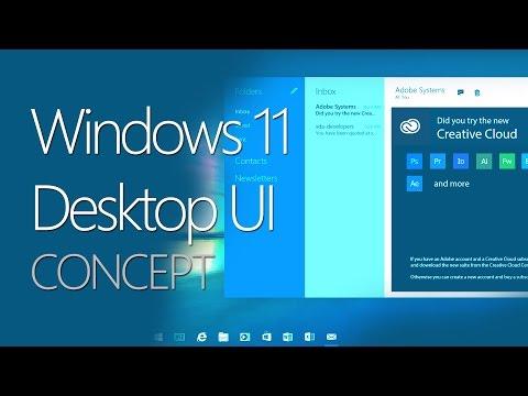 Windows 11 Desktop User Interface Concept
