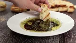 Grilled Bread with Rosemary Dipping Sauce