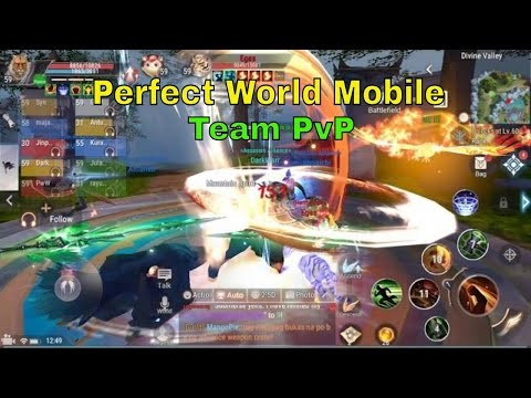 Perfect World Mobile PvP Gameplay: Team PvP(Divine Valley)