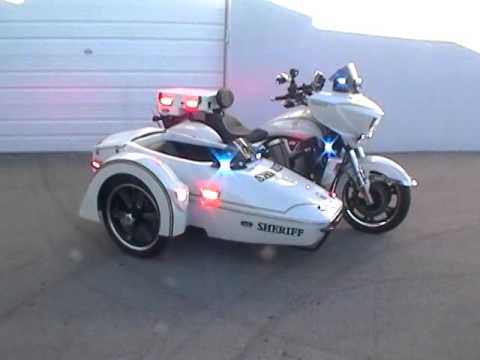 Led Lights For Motorcycle >> New Victory Police Sidecar - YouTube