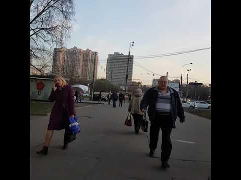 метро Профсоюзная, Москва 19 апреля 2019 г.
