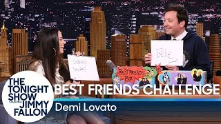 Best Friends Challenge with Demi Lovato by : The Tonight Show Starring Jimmy Fallon