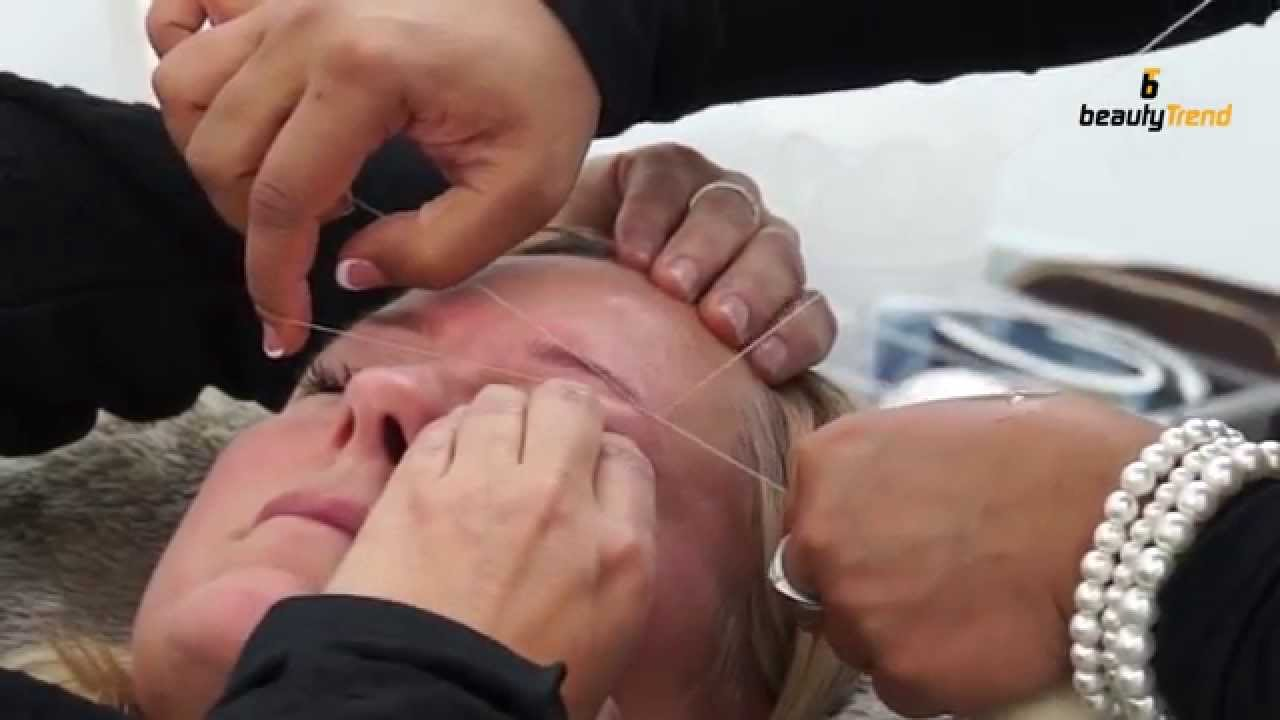 threading øjenbryn
