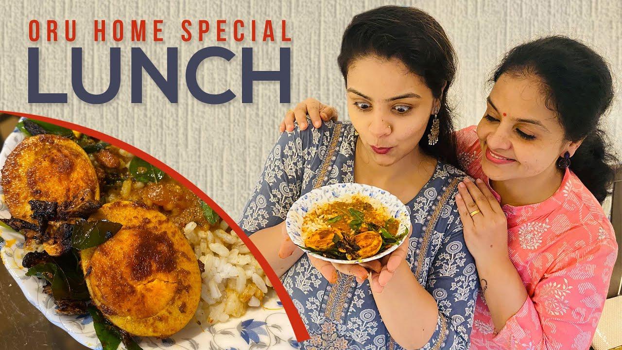 PONDI BOWL- Home fav Lunch |Easy-Tasty lunch Recipe| Kara muttai- Rasam