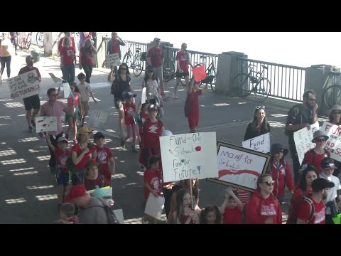 Thousands of Oregon teachers walk out over funding