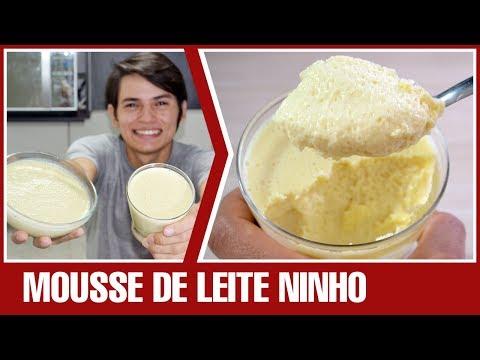 MOUSSE DE LEITE NINHO (leite em pó) | Receita