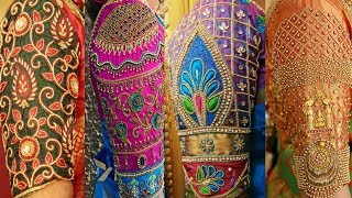 Maggam work on hands l sleeves maggam work designs ll Blouse designs l Model blouses