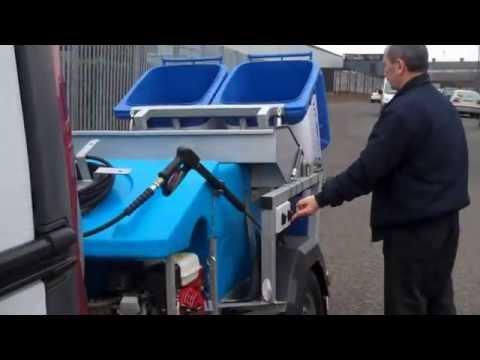 MORCLEAN Wheelie Bin Wash Cleaning Machine - NEW 2014 MODEL - Trailer Mounted Jet Wash