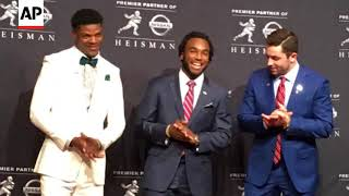 How did lamar jackson of louisville and bryce love stanford approach a season that led to becoming heisman trophy finalists? (dec. 9, 2017)