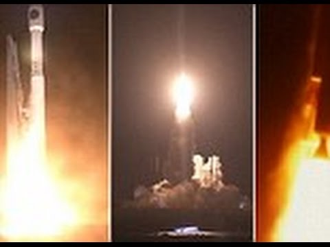 Witness the moment NASA's Atlas V rocket launches into space