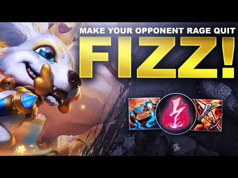 HOW TO MAKE YOUR OPPONENT RAGE QUIT! FIZZ! - League & Chill | League of Legends