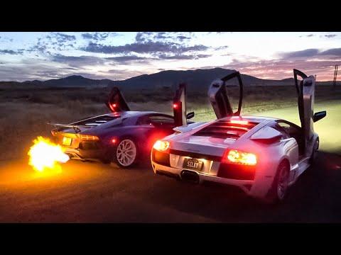 Aventador Vs Murcielago: Drag Race, Accelerations & Revs