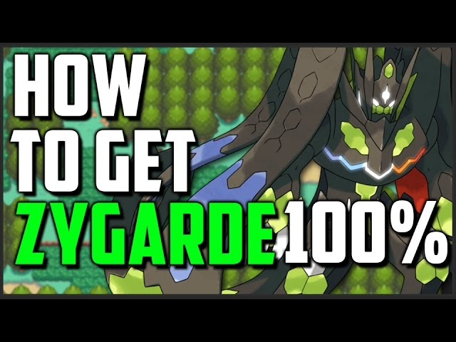 pokémon sun and moon guide how to get zygarde 100 perfect form