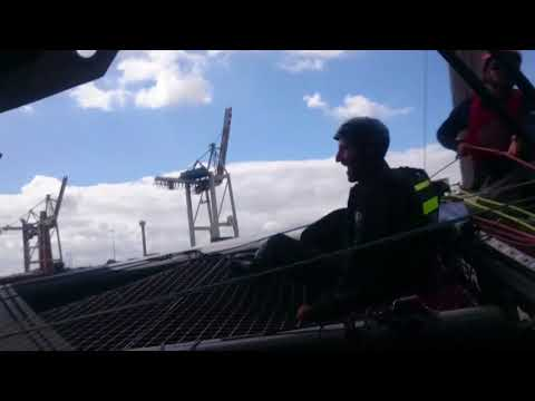 Extreme Sailing Series Hamburg: Land Rover BAR team