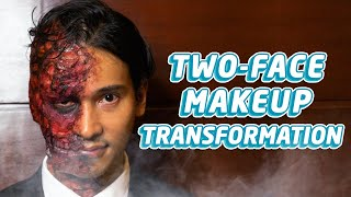 HALLOWEEN MAKEUP TRANSFORMATION (TWO-FACE) | Enchong Dee