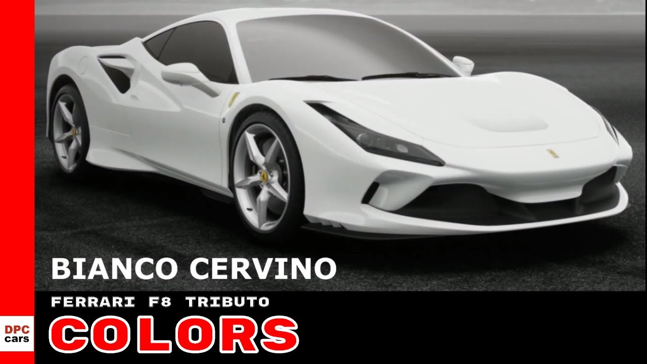 Ferrari F8 Tributo Colors Youtube