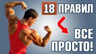 18 пунктов идеального роста мышц. Бодибилдинг без химии