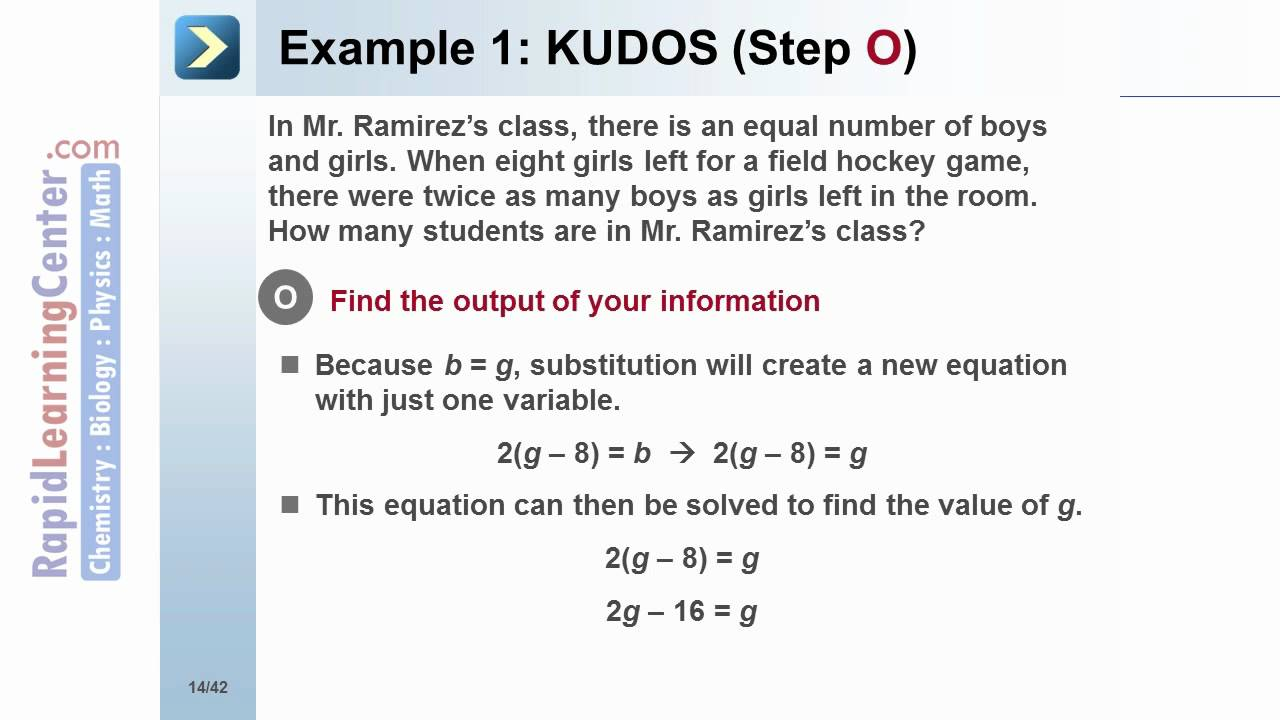 Rapid Learning: Applied Math Word Problems - How to Solve Math ...