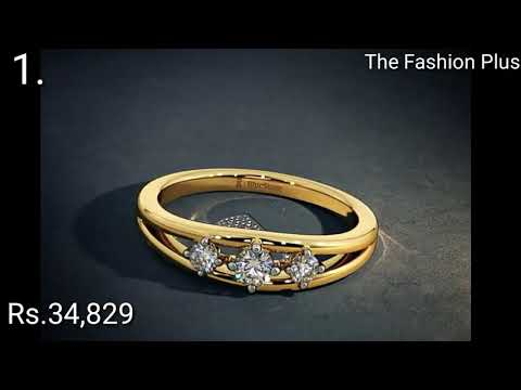Engagement Gold Ring Designs With Price